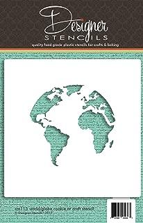 World Map (Globe) Cookie and Craft Stencil CM113 by Designer Stencils