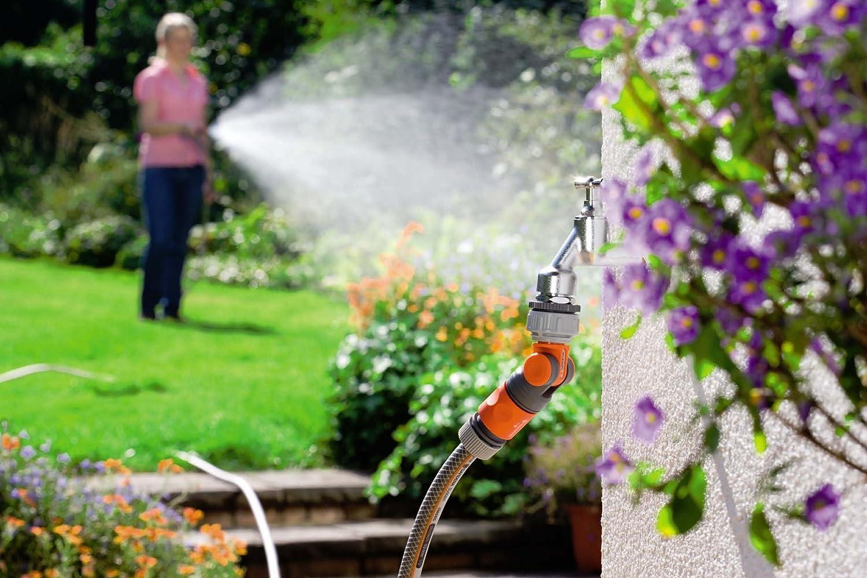 Gardena Wasserhahn-Anschluss mit Drehgelenk und Ellenbogen