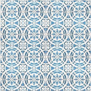 ニトムズ デコルファ (decolfa) フロアパネル ブルー 貼るだけ 床 4枚組 M4302