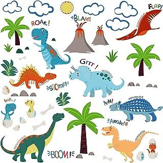 Jurassic World Dinosaurs Decorative Peel & Stick Wall Art Sticker Decals for Boys Room or Nursery