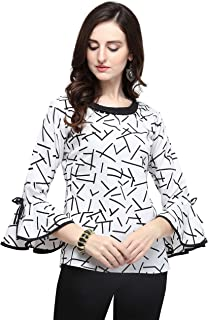J B Fashion J B Women Plain Top with 3/4th Sleeves for Office Wear, Casual Wear, Under 399 Top for Women/Girls Top