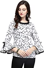 J B Fashion Printed Women Top with Full Sleeves for Fancy top,Stylish top, Casual Wear Top for Women/Girls Top