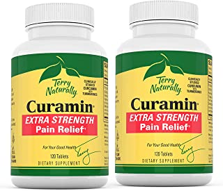Sponsored Ad - Terry Naturally Curamin Extra Strength (2 Pack) - 120 Vegan Tablets - Non-Addictive Pain Relief Supplement ...