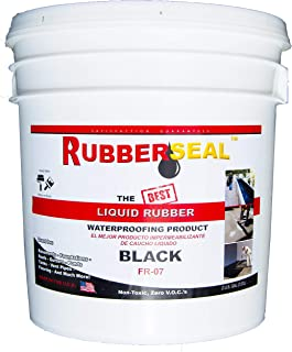 Rubberseal Liquid Rubber Waterproofing and Protective Coating - Roll On 2 Gallon Black