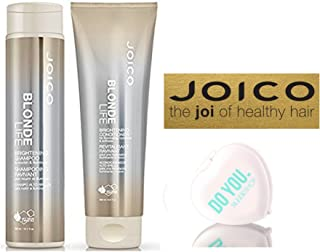 Joico Blonde Life Brightening Shampoo and Conditioner Duo Set (with Sleek Compact Mirror)