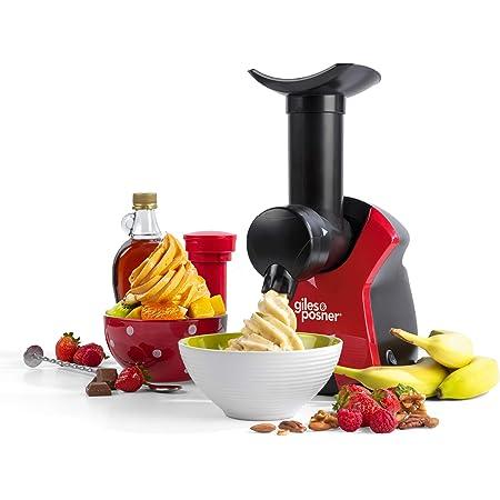 Giles & Posner EK4002VDEEU7 Machine à Desserts Glacés - Prise EU, Machine À Desserts Aux Fruits Surgelés, 250 W, Rapide et Facile à Utiliser, Création de Desserts Sains et Délicieux