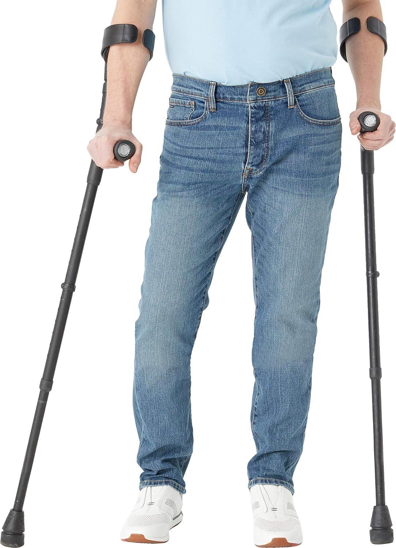 Tommy Hilfiger Men's Adaptive Jeans unisex Ma Houston Mall Waist Straight Adjustable
