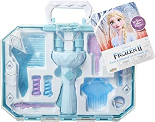 Frozen 2 Elsa's Hair Twirler Vanity Accessory Set - Twist and twirl hair to create fun hairstyles! Easy Hair Design Braiding Tool Machine DIY Hair Tool - For Girls Teens Kids ages 3+
