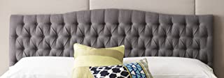 Elle Decor King Tufted Headboard in French Gray