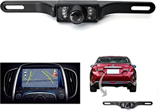 Moonet License Plate Mount Rearview Camera CCD Backup Rearview Camera 7LED Light Night Vision