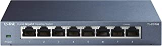 TP-Link 8 Port Gigabit Ethernet Network Switch | Ethernet Splitter | Sturdy Metal w/ Shielded Ports | Plug-and-Play | Traffic Optimization | Unmanaged (TL-SG108)