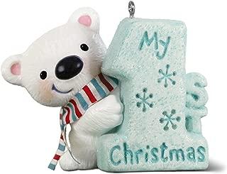 Hallmark Keepsake Ornament 2018 Year Dated, My 1st Christmas Polar Bear, Baby