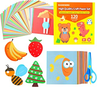 Fun Paper-Cut Set,Origami Paper Art; Scissor Skills Activity Cutting Book; Kids Scissors Crafts Kits Preschool-120 Pages w...