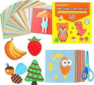 مجموعه برش کاغذ سرگرم کننده ، کاغذ هنری اریگامی ؛ کتاب برش فعالیت مهارت های قیچی؛ کیت های صنایع دستی قیچی کودکان پیش دبستانی - 120 صفحه با یک جفت قیچی برای کودکان مبتدی و آموزش یادگیری در مدرسه