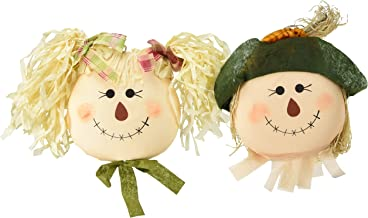 """Worth Imports Hanging Girl Scarecrow Face, Set of 2, 19"""""""