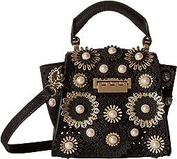 Black Glitter Floral