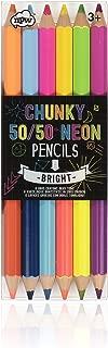 NPW-USA 50/50 Chunky Neon Color Pencil Set, 6-Count