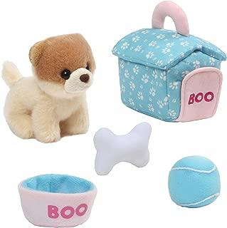 GUND Boo Dog House Playset Stuffed Animal Plush, 5 pieces