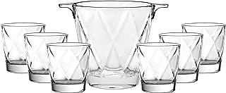 Barski - European Quality - 7 Piece Bar Set - for Whiskey - Wine - Liquer - Includes - Ice Bucket 5.9