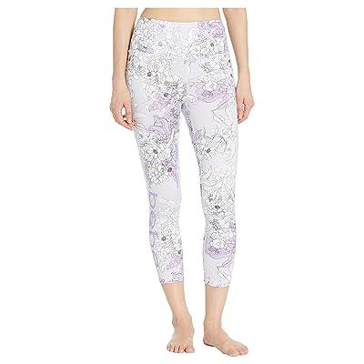 Bebe Sport Printed Pocket Capris (Lilac Peony/Lilac) Women