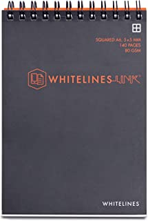 Whitelines Whitelines Spiral Notepad Whitelines Spiral Note Pad A6 140P 8mm Ruled 80gsm, (192726)