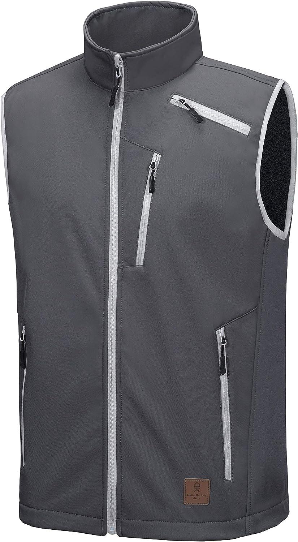 Sales for sale Little Donkey Andy Men's Lightweight Vest Fleece Lined New mail order Softshell
