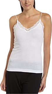 Women's Organic Cotton Lace Trimmed Adjustable Strap Cami