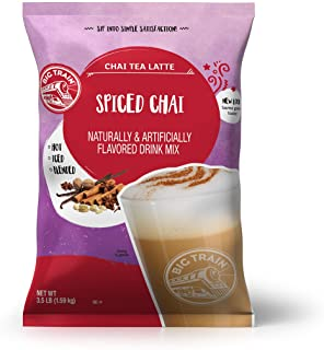 Big Train Spiced Powdered Instant Chai Tea Latte Mix, Spiced Black Tea with Milk, For Home, Coffee Shop, Restaurant Use, 5...