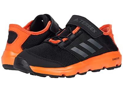 adidas Outdoor Kids Terrex Climacool Voyager CF (Little Kid/Big Kid) (Black/Grey Five/True Orange) Boys Shoes