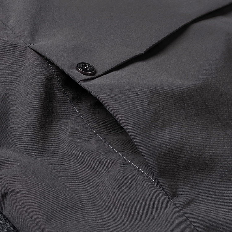 Solid Hooded Coat for Men's Windbreaker Waterproof Thin Coat Zipper Long Sleeve Solid Outdoor Jacket Trench