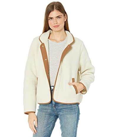 J.Crew Polartec(r) Jacket with Patch Pockets (Old Lace) Women