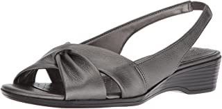 LifeStride Women's Mimosa 2 Sandal, Pewter, 6.5 Wide Wide US