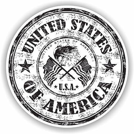 Made In Usa America Flag Emblem Badge Star Hochwertigen Auto Autoaufkleber 12 X 10 Cm Küche Haushalt