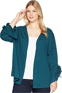 Plus Size Nia Ruched Sleeve Knit Cardigan
