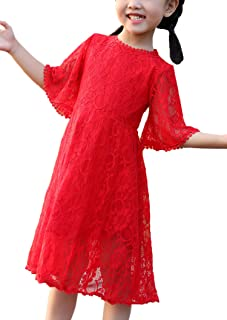 Flower Girls Dress Lace Dress Vintage Country Wedding Party Dress 2-6 7-16