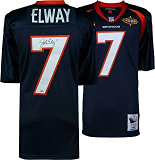 John Elway Denver Broncos Autographed Blue Mitchell & Ness 1997 Throwback Authentic Jersey - Fanatics Authentic Certified