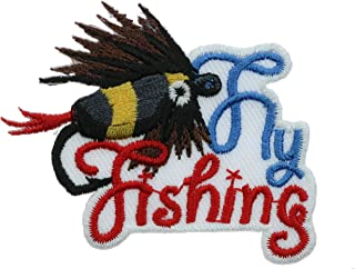 Fly Fishing 2 inch Small Iron on Patch Ava0517