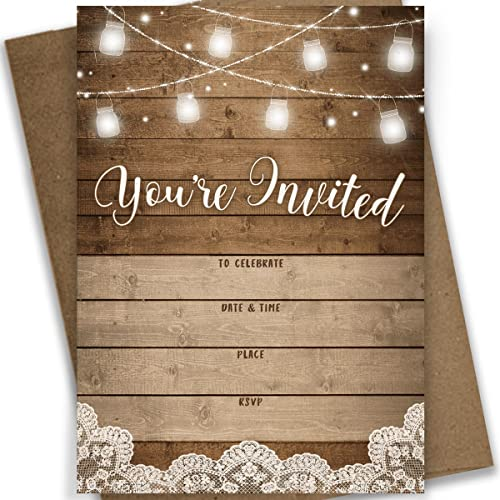3aedf1e60a0 Rustic Bridal Shower Invitations  Amazon.com