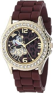 Disney Women's MN1054 Rhinestone Accent Minnie Mouse Brown R