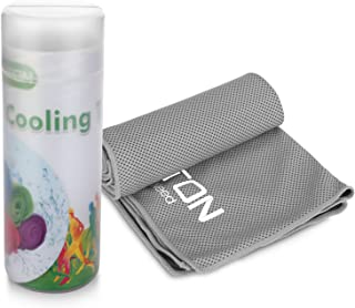 OMOTON High-tech Cooling Towel for Instant Relief-Soft Breathable Mesh Yoga Towel-Keep Cool when Running Biking Hiking and all Other Sports