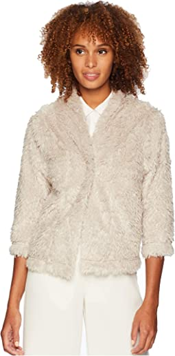 Lite Cashmere Soft Fur Crop Jacket