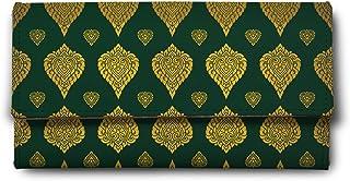 ShopMantra Green goldern Leaf Multicolor Ladies Wallet LW00000251