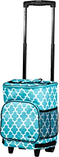 dbest products Ultra Compact Cooler Smart Cart, Moroccan Tile Insulated Collapsible..