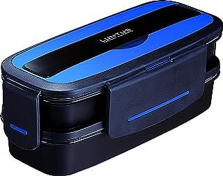 アスベル お弁当箱2段820mL ランタスDB TLB-TS820 バッグ付き メタリックブルー 3653