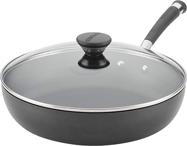 Circulon Acclaim Hard Anodized Nonstick 12 Inch Covered Deep Skillet Black