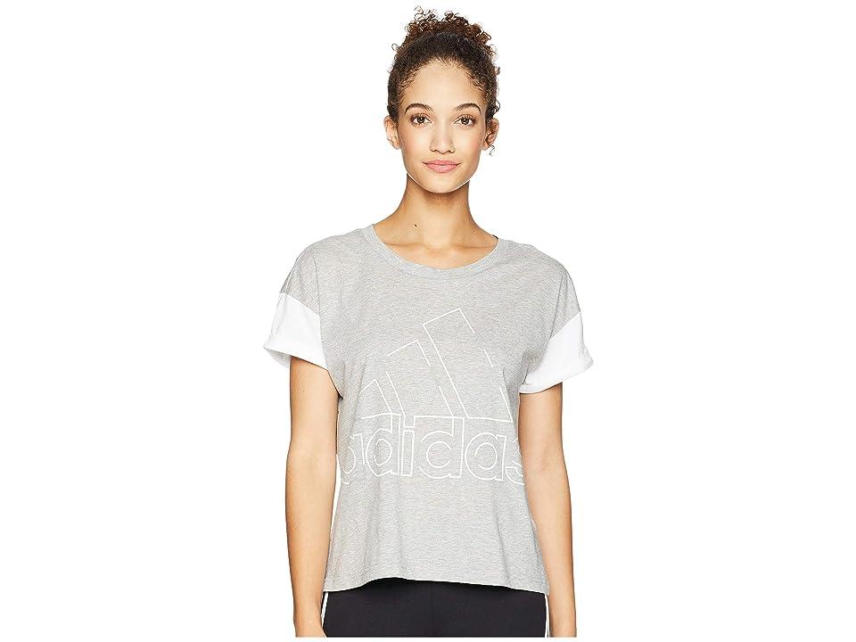adidas Sport ID Badge of Sport T-Shirt (Medium Grey Heather) Women