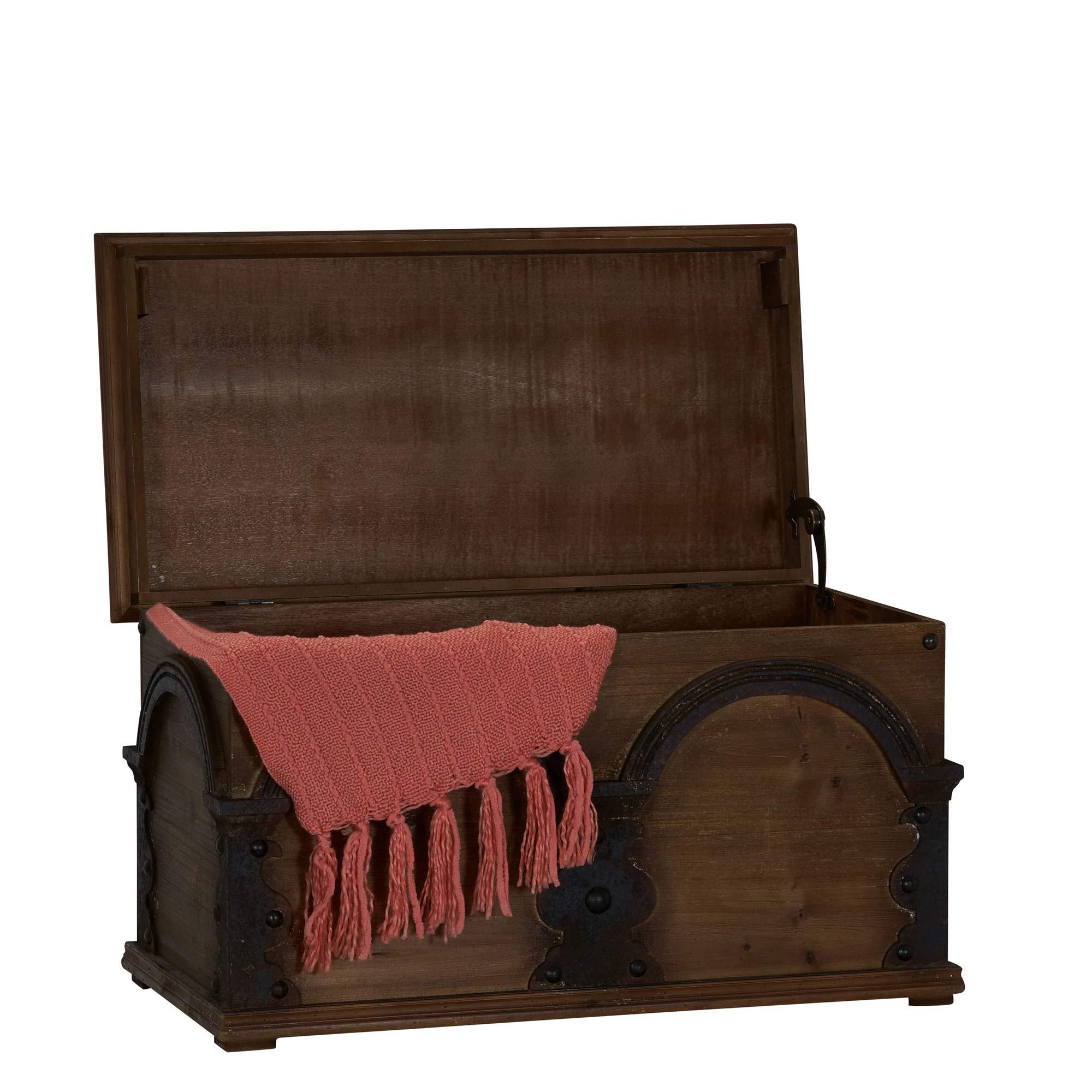 Household Essentials Wooden Trunk Storage