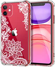 MoKo Compatible with iPhone 11 Case, Clear Reinforced Corners TPU Bumper + Anti-Scratch Anti-Yellow Transparent Hard Panel Cover Fit Apple iPhone 11 6.1 inch 2019 - Crystal Lace
