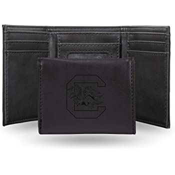 Brown NCAA South Carolina Gamecocks Zep-Pro Pull-Up Leather Trifold Embossed Wallet