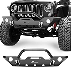 Nilight JK-50A Front Bumper Compatible for 07-18 Jeep Wrangler JK Rock Crawler Off Roadwith with Fog Lights Hole, Winch Plate & 2 x D-Rings, Upgraded Textured Black,2 Years Warranty